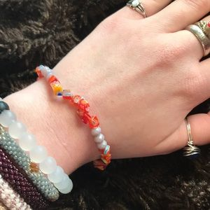 Jewelry - Boho Nature Glass Handmade Bracelet